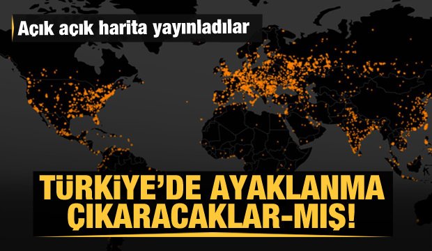 Dünyayı tedirgin eden harita! Türkiye'yi de hedef aldılar